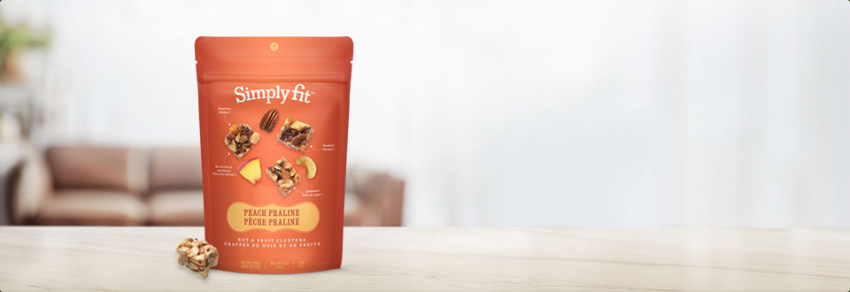 Simply Fit Nut Fruit Cluster - Peach Praline